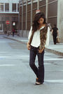 Blue-true-religion-jeans-brown-lf-vest-black-chanel-shoes
