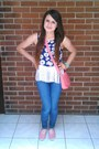 Navy-denim-andrea-jeans-coral-leather-cyzone-purse