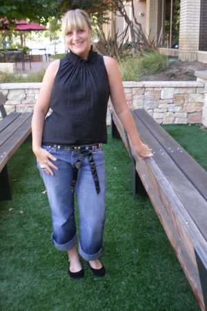 Seven For All Mankind jeans - banana republic belt - Jessica Simpson shoes - The