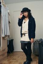 Urban Outfitters dress - Urban Outfitters dress - Lacoste thrift sweater - thrif