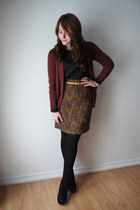 H&M cardigan - tweed Nordstrom Rack skirt - Urban Planet blouse - H&M belt