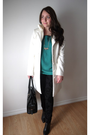 Rickis coat - Suzy Shier boots - just fab bag - Forever 21 blouse