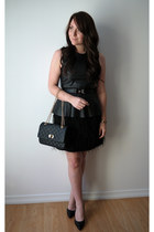 quilted Express bag - feathers Bootlegger skirt - peplum H&M top