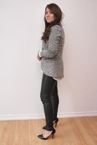 Forever 21 jacket - faux leather Forever 21 pants - Suzy Shier heels