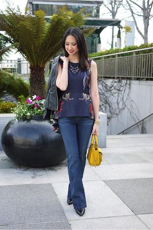 blue flare J Brand jeans - mustard 31 Phillip Lim purse