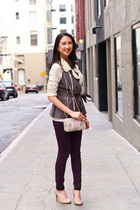 neutral Target top - light purple snakeskin Rebecca Minkoff purse