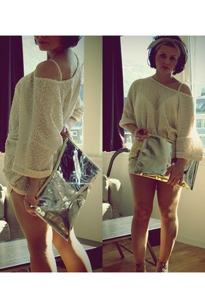 beige litas in nude Jeffrey Campbell boots - H&M bag - beige Ebay shorts - brown