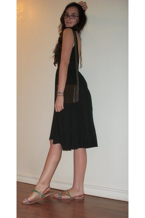 black midi asos dress