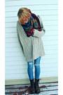 Vintage-scarf-skinny-levi-jeans