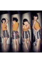 body glove top - skirt