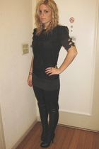 Topshop top - H&M dress - American Apparel leggings - Jeffrey Campbell boots - M