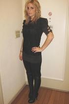 Topshop top - H&M dress - American Apparel leggings - Jeffrey Campbell boots - M