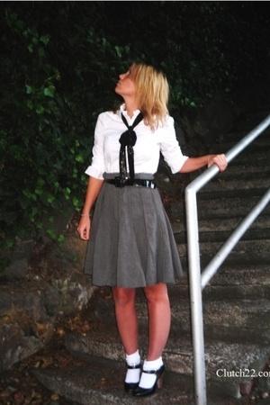Sanctuary blouse - Marshalls skirt - Forever21 socks - Steven shoes
