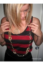 belt from a dress necklace - Prismera necklace - Chain from locket necklace