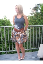 ben sherman top - forever 21 skirt - Urban Outfitters belt - sam edelman shoes