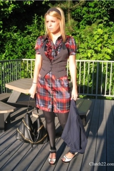 forever 21 dress - Metropark vest - American Apparel tights - Urban Outfitters b