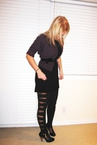 Urban Outfitters sweater - Bliss dress - Target tights - Urban Outfitters tights