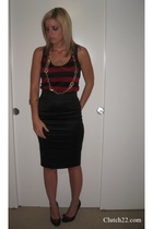forever 21 top - Bebe skirt - BCBGirls shoes - necklace