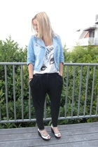 Zara t-shirt - Zara jacket - forever 21 pants - Jeffrey Campbell shoes
