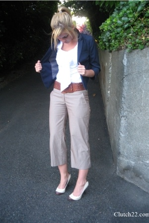 Lux blazer - Express blouse - Urban Outfitters belt - sam edelman shoes