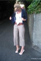 Lux blazer - Express blouse - Urban Outfitters belt - sam edelman shoes