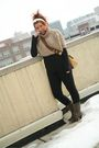 Black-calvin-klein-pants-brown-marshalls-top-beige-prada-accessories-black