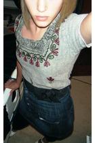 shirt - forever 21 belt - Charlotte Russe skirt - forever 21 leggings - forever