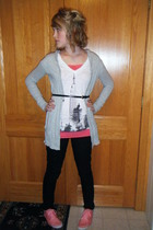 Delias sweater - Forever 21 t-shirt - HERITAGE 81 shirt - Forever 21 jeans - For