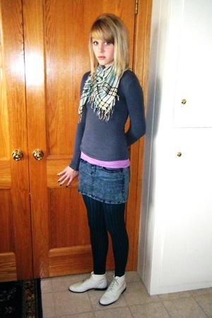 Forever 21 scarf - Forever 21 shirt - HERITAGE 81 shirt - Forever 21 skirt - For