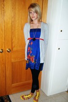 forever 21 dress - Delias sweater - forever 21 belt - forever 21 leggings - fore