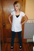 Forever 21 t-shirt - Forever 21 shirt - Forever 21 jeans - Wet Seal shoes