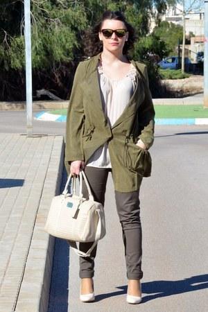 forest green Sheinside coat