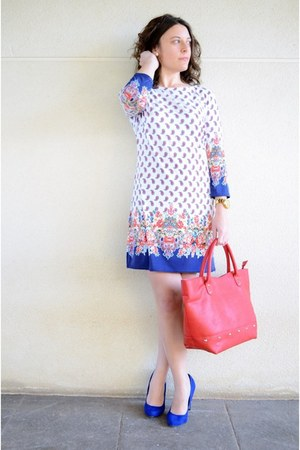 red suiteblanco bag - white Primark dress