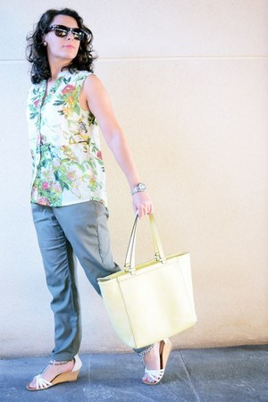 light yellow Paco Martinez bag - olive green okeysi pants