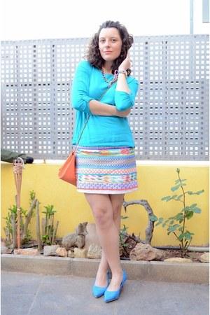 Primark skirt - turquoise blue Shana shirt