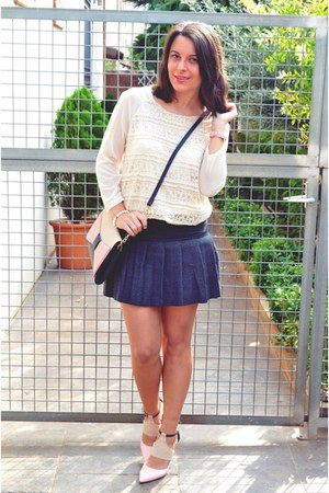 silver CNdirect skirt - light pink suiteblanco bag