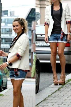 Zara blazer - Pimkie shorts - Schutz wedges