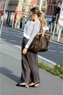 Gray-zara-skirt-h-m-sweater-louis-vuitton-bag-prada-sunglasses