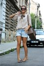H-m-shirt-barbour-scarf-h-m-shorts-prada-sunglasses