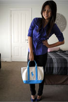 purple Armani Exchange blouse - black Lee jeans - blue Ralph Lauren purse - blue