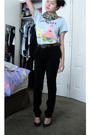 Black-calvin-klein-pants-blue-midas-shoes-blue-spongebob-squarepants-t-shirt