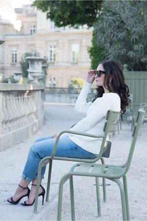white Majorelle sweater