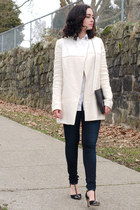 cream Maje coat