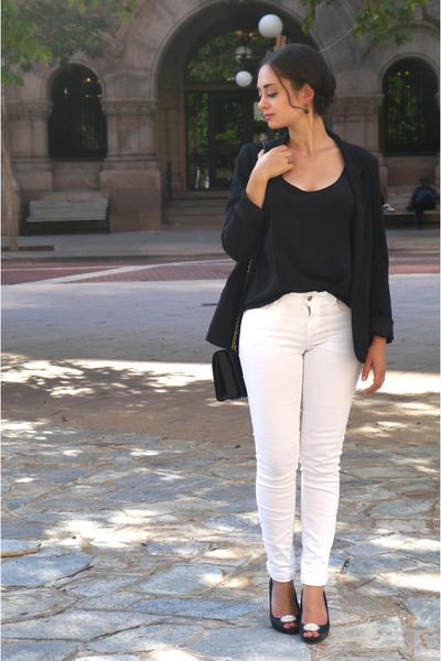 black Sezane top