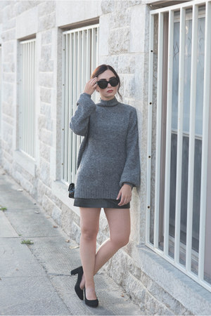 charcoal gray Lovers  Friends sweater