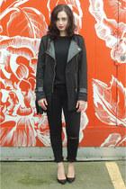 black Sheinside coat
