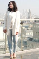 cream Maje coat
