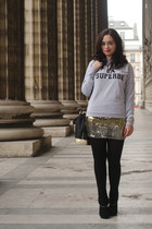 heather gray les composantes sweatshirt