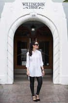 white Marled by Reunited Clothing blouse