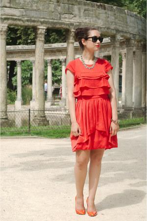 red SANDRO dress